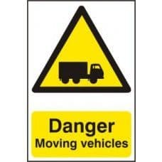 SIGN DANGER MOVING VEHICLES 400x600MM 4100