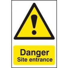 SIGN DANGER SITE ENTRANCE 400x600MM 4102