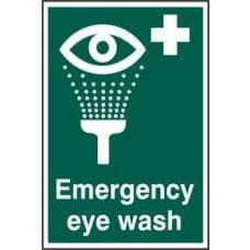 SIGN EMERGENCY EYE WASH 200x300MM 1554