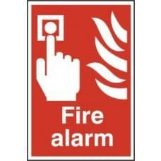 SIGN FIRE ALARM 200x300MM 1400