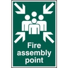 SIGN FIRE ASSEMBLY POINT 200x300MM 1541