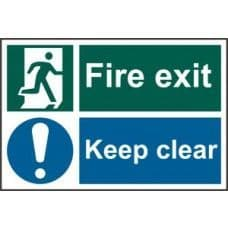 SIGN FIRE EXIT KEEP CLEAR 300x200MM 1540
