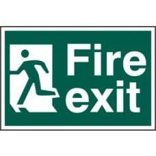 SIGN FIRE EXIT MAN RUNNING LEFT 300x200MM 1508