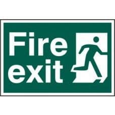 SIGN FIRE EXIT MAN RUNNING RIGHT 300x200MM 1507