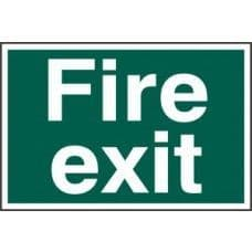 SIGN FIRE EXIT TEXT ONLY 300x200MM 1502