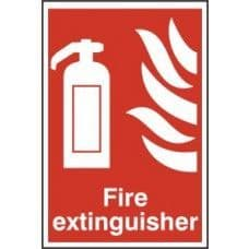 SIGN FIRE EXTINGUISHER 200x300MM 1350