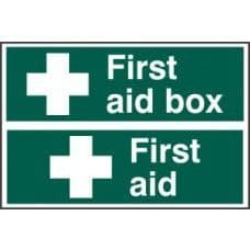 SIGN FIRST AID BOX / FIRST AID 300x200MM 1553
