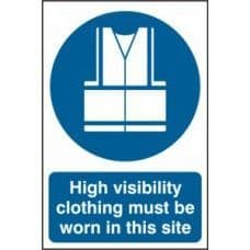 SIGN HIGH VISIBILITY CLOTHING MUST BE WORN IN THIS SITE 400x600MM 4007