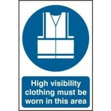 SIGN HIGH VISIBILITY JACKETS MUST BE WORN IN THIS AREA 200x300MM 0022