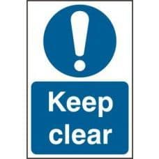 SIGN KEEP CLEAR 200x300MM 0253