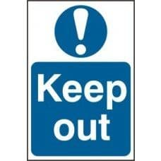 SIGN KEEP OUT 200x300MM 0255