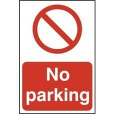 SIGN NO PARKING 200x300MM 0605