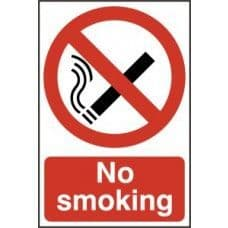 SIGN NO SMOKING 200x300MM 0550