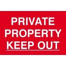SIGN PRIVATE PROPERTY KEEP OUT 300x200MM 1652
