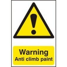 SIGN WARNING ANTI CLIMB PAINT 200x300MM 1113
