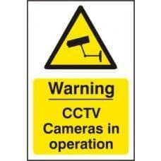 SIGN WARNING CCTV CAMERAS IN OPERATION 200x300MM 1311
