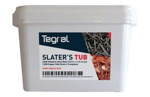 SLATER TUB TEGRAL (2000 - STAINLESS STEEL NAILS & 1000 - CRAMPIONS)