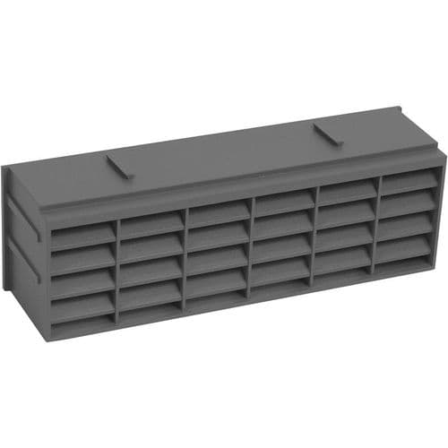 VENT ANTHRACITE BLACK AIRBRICK PVC 9in x 3in (225MM x 75MM) MV250