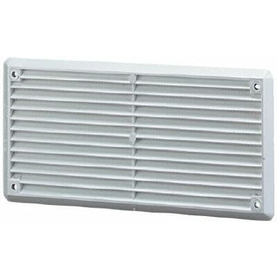 VENT PLASTIC LOUVRE WHITE 9in x 3in VE04P