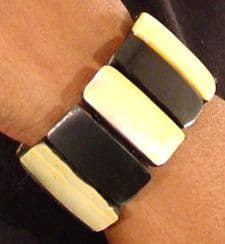 African Mother of Pearl Bangle