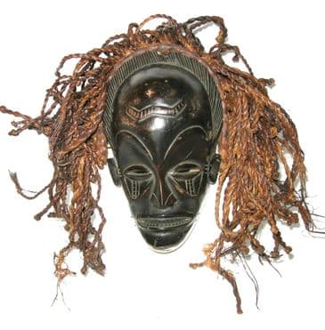 African Traditional Mask - Kuba Tribe - Sudan - 45-50 years old - Collectible #64