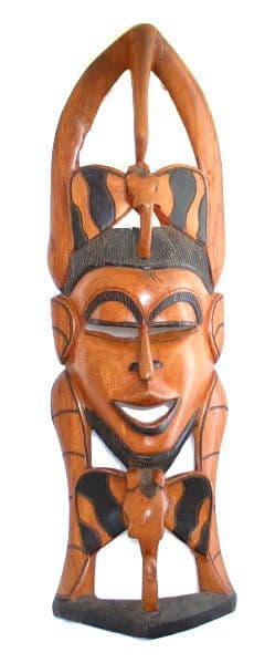 African Traditional Wooden Mask - Large