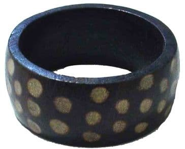 African Wooden Dotted Choco Bangle