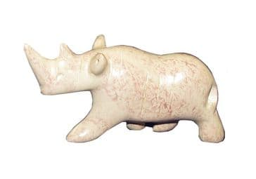 "Baby Rhino in stone 2"" / 5cm in White Gift Box"