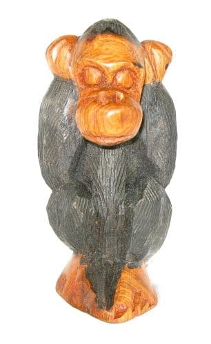 "Cheeky Monkey Carving ""Hear No Evil"""