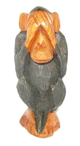 "Cheeky Monkey Carving ""See No Evil"""