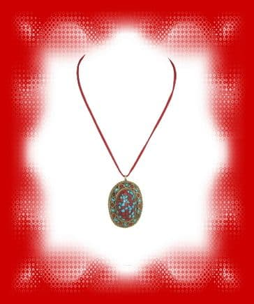Indian Domed Pendant -