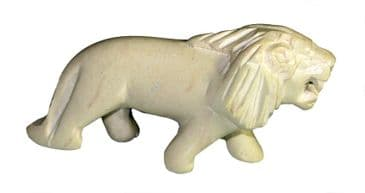 "Lion Cub in stone 2"" / 5cm in White Gift Box"