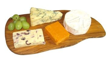 """Olive Wood Cheese Board - large 12"""" / 30cm"""