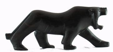 Panther Carving in Ebony - Small