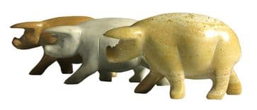 "Three Little Pigs in stone 2"" / 5cm"