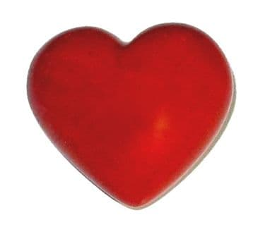 Valentines Fair Trade Heart in Natural Stone - Red -  medium