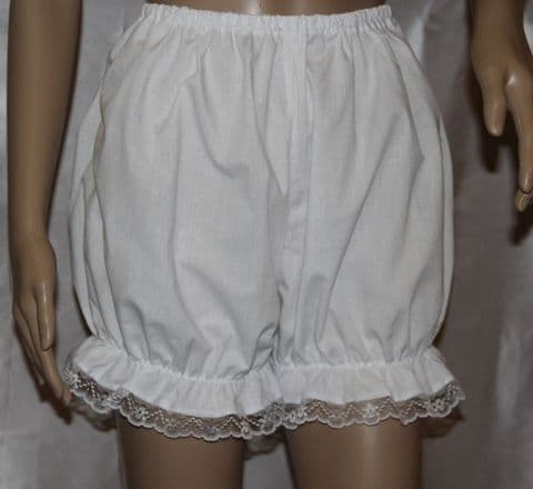 Victorian / Edwardian  white Bloomers With Lace Trim Fancy Dress   Pantaloons