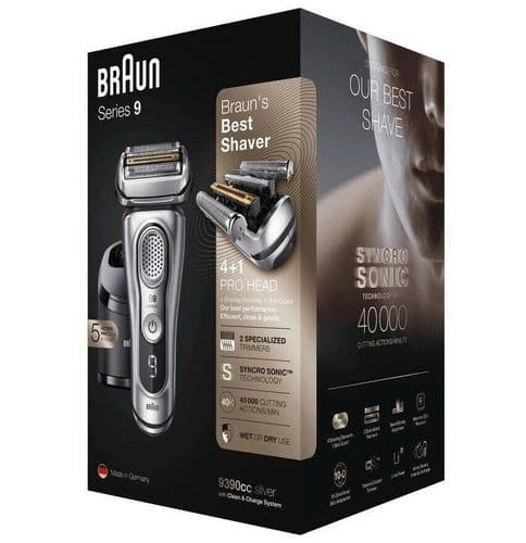 Braun Series 9 9390CC Men's Electric Shaver Wet/Dry Foil Shaver