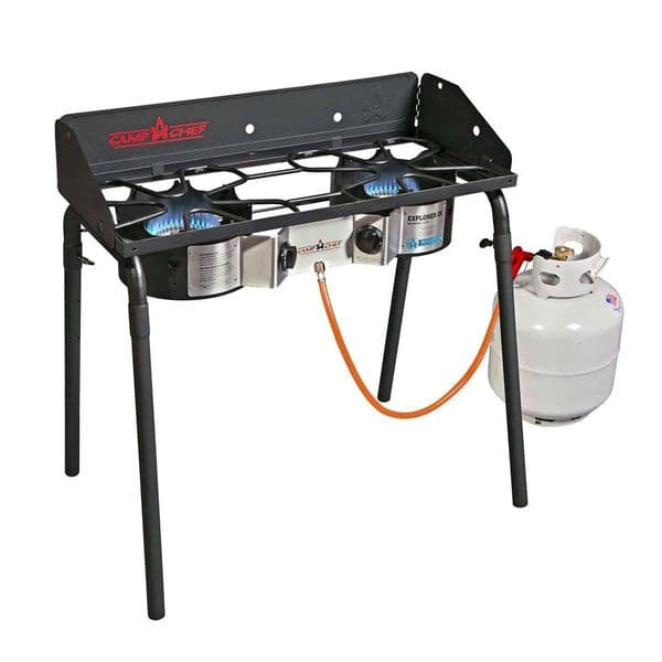 Camp Chef Explorer 2 Burner Portable Camping Stove with Grill/Griddle EX60FPEUR