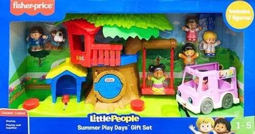 Fisher Price Little People Summer Play Days Gift Set includes 7 Figures