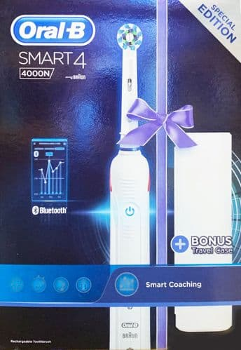 Oral-B Smart 4 4000N Bluetooth Electric Toothbrush Special Edition with Case