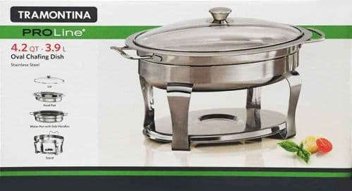 Tramontina ProLine Oval 3.9L Chafing Dish Heavy Gauge Stainless Steel Stand