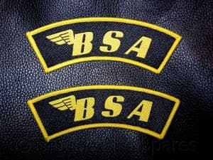 BSA Shoulder Flashes, Pair, Top Quality