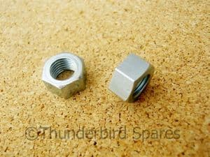 Carburettor Mounting Nuts, Pair, Triumph,BSA, 1950s & 60s, 5/16 BSC, small hex.