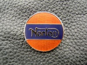 Norton Enameled Lapel Badge, Classic Bike,top quality.
