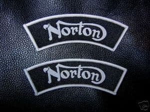 Norton Shoulder Flashes, Pair, Top Quality