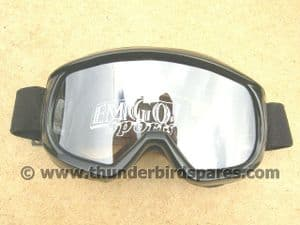 Off-Road Goggles, Black, Ideal for Classic Bike Use.