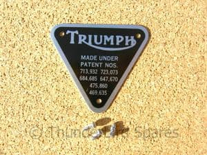 Patent Plate Kit, Triumph Timing Cover, Twins 1959-1983, 70-4016