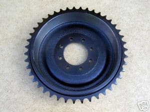 Rear Sprocket & Drum,43T,Triumph twins, bolt up 1945-65, 37-1276