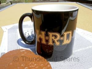 Tea/Coffee Mug, H.R.D., Made in England, Black.